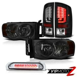 02 05 Dodge Ram 1500 2500 5 7l Tail Brake Lamps Smoked Headlights Roof Light Led