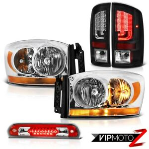 07 08 Dodge Ram 1500 Slt Taillamps Euro Clear Headlights Roof Cab Lamp Assembly