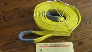 Two 2 Usa 2 X 18 Polyester Lifting Sling Ht Eye Eye By Lift it Tow Strap