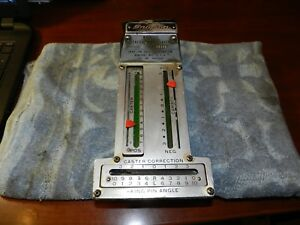 Vintage Snap On Magnetic Caster Camber Gauge Model Wa40 Ab As Is