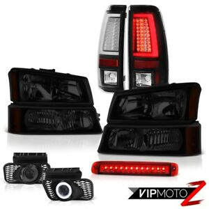 03 06 Silverado Tail Lights Red High Stop Light Headlights Fog Frosty Neon Tube