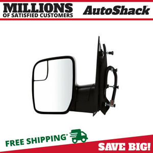 Textured Power Driver Left Side Mirror For 2010 2014 Ford E 350 Super Duty