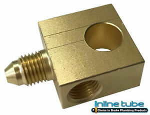3an Male 10mx1 0 Bubble Flare Brake Hose Brass Block Tee Stainless Braided Hose