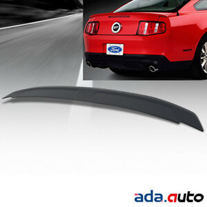 Rear Trunk Spoiler For 10 14 Ford Mustang Coupe Shelby Gt500 Matte Black Abs Lid