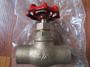 11 Plumbing Stop Valves With Drain Brass 3 4 Solder Ends
