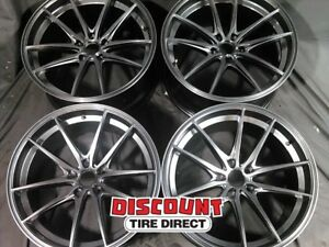4 Used 19x9 5 40mm 5x114 3 Konig Oversteer Silver Wheels rims