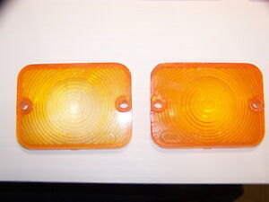 1962 Ford Falcon Amber Lenses Oem Sae pd 62 Fn Pair