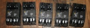 5x Square D Homeline Quad Circuit Breaker 2 20 amp Single 40 Amp Double Pole