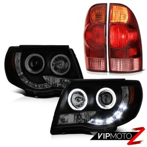2005 2011 Tacoma Trd Offroad Dark Tinted Headlights Bloody Red Tail Brake Lamps