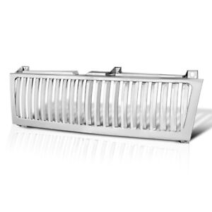 99 02 Chevy Silverado 1500 2500 Glossy Chrome Front Bumper Vertical Grille