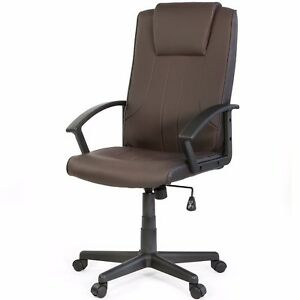 Xtremepowerus Barton Executive Leather Office Chair Brown