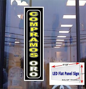 Led Sign Compramos Oro we Buy Gold Spanish 48x12 Window Sign Neon Banner Alter