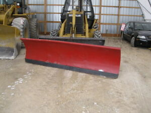 Western 10 Steel Snow Plow Straight Blade Backhoe Loader Skid Steer Dump Truck