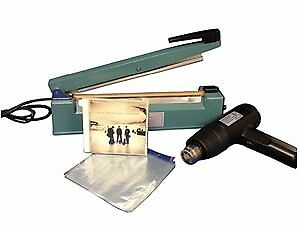 Sealer Sales Shrink Wrapping Kit With 12 Inch Hand Sealer Heat Gun And 6 5