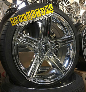 20 Iroc Replica Chrome Rims Wheels Tires 20x8 5 10 5x115 Mounted Balanced