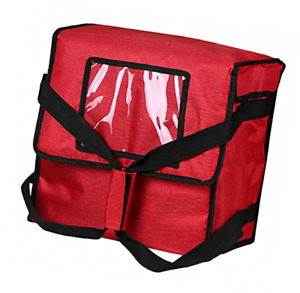 Backerysupply Polyester Insulated Pizza food Delivery Bag Professional Pizza Red