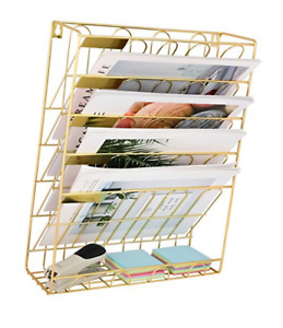Superbpag Hanging Wall File Organizer 5 Slot Wire Metal Wall Mounted Fj5cbg