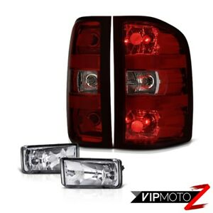 07 13 Silverado 3500hd Foglights Smokey Red Tail Brake Lights Oe Style Assembly