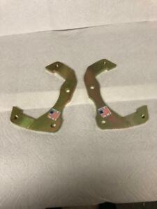1955 1956 1957 Chevy Caliper Brackets only For 2 Drop Spindles Please Read Ad