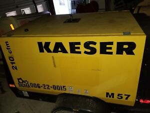 Kaeser M57 Air Compressor 210cfm Runs Great Professionally Maintained 950 Hrs
