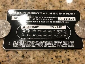Autolite Group 24 Battery Sticker With Date Boss 302 Ford Mustang 351 289 70 73