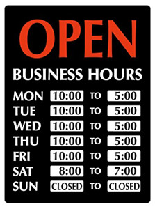 Newon Led Lighted open Sign With Business Hours 23 4 X 20 4 X 1 2 Inches 9442
