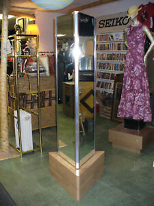 Big 3 sides Floor Length Triangle Mirror 76 Tall Store Fixture Display Home