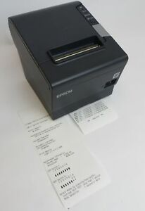 Epson M244a Tm t88v Usb Parallel Thermal Pos Receipt Printer Tested