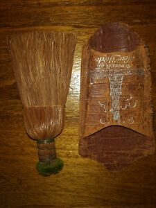 Vintage Small 6 Wisk Broom With Pouch Souvenior Of New York