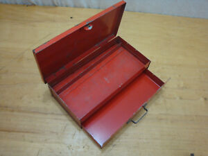 Mac Tools Red Metal Accessory Tool Box With Drawer 1 4