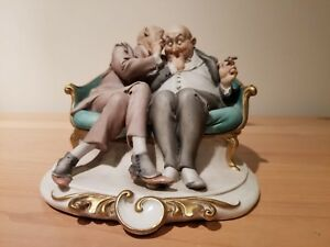 Porcelain Of Capodimonte G Cappe The Joke Or The Gossip 99045