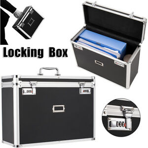 Personal Security Locking Letter File Tote Box