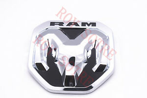 2019 Dodge Ram Chrome Tailgate Ram S Head Emblem Medallion New