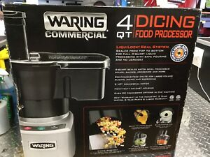 New Waring Commercial Wfp16scd 4 Qt Food Processor W batch Bowl Continuous Feed