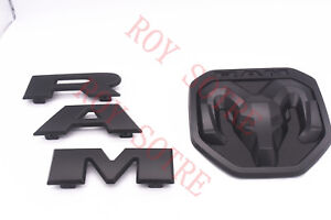 2019 Dodge Ram 1500 Dt Matte Black Tailgate Rams Head Emblem New