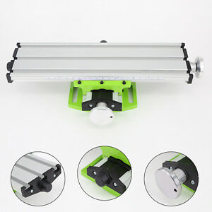 Milling Worktable Double Track Compound Work Table Bench Drill Aluminum Alloy