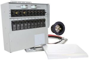 Reliance Controls Manual Transfer Switch Generator Electrical 30 Amp 10 Circuit