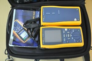 Fluke Networks Dtx 1800 Sm Sfm2 Fiber Dtx 1800 Cable Analyzer Kit Calibrated