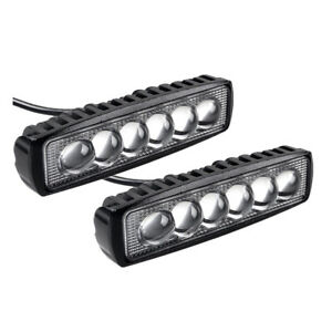 6inch Led Work Light Bars 36w Spot Flood Offroad Fog Driving Truck Boat Atv Bike