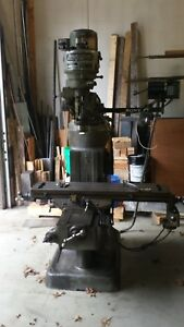 Bridgeport J head Vertical Milling Machine With Dro Used Working Condition
