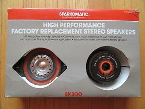 6w Vintage Sparkomatic Sk300 Car Speakers Nos Need Cleaning In Box 40 Watts