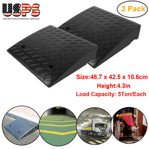 Height 4 3 Load 5ton Heavy Duty Rubber Curb Ramp 2 Pack Us Stock
