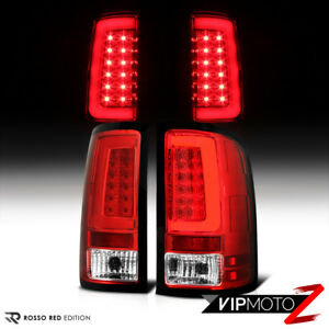 07 13 Gmc Sierra Chrome Housing Red Lens Led Bar Brake Signal Lamp Tail Light