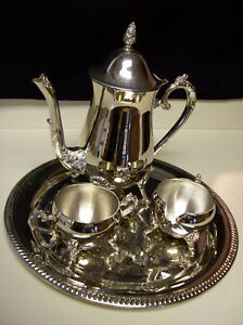 Vintage 4pc Set Silverplate Antique Coffee Tea Set