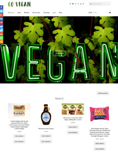 Vegan Ecommerce Website Business For Sale Unlimited Stock Shopping Cart