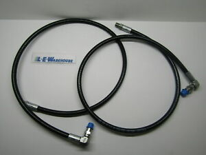 2 New 45 Snow Plow Angling Ram Hose W 90 Degree Swivel Replaces Meyer 21856