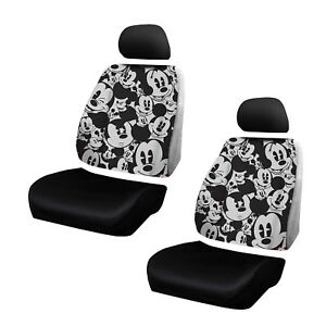New Disney Mickey Mouse Expressions Low Back Seat Cover Set 6 Pcs