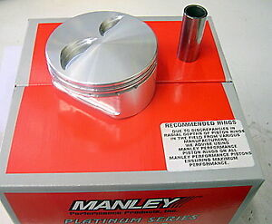 590130 8 Manley Forged Flat Top Pistons 4 030 Bore 6 0 Rod Sb Chevy 350