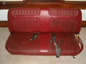 1980 1986 Ford F series Truck Factory Front Red Bench Seat