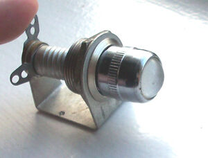 Vintage Clear Dash Gauge Panel Light Hot Rod Old 5 8 Rare Dialco Nice Look